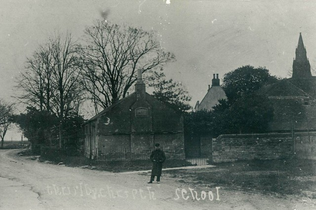 The National School. Built in 1853, a C of E School. Headmaster Thomas Brown