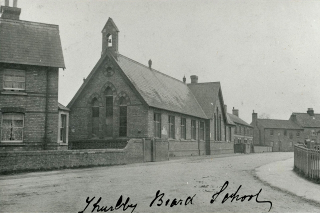 The Board School, Station Road, Thurlby. Built in 1876 and demolished in 1988.