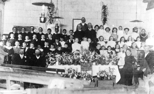 Gilbert Tyler _Flower Service in Weslyan Chapel 1912 inc fred frank and stodge tyler